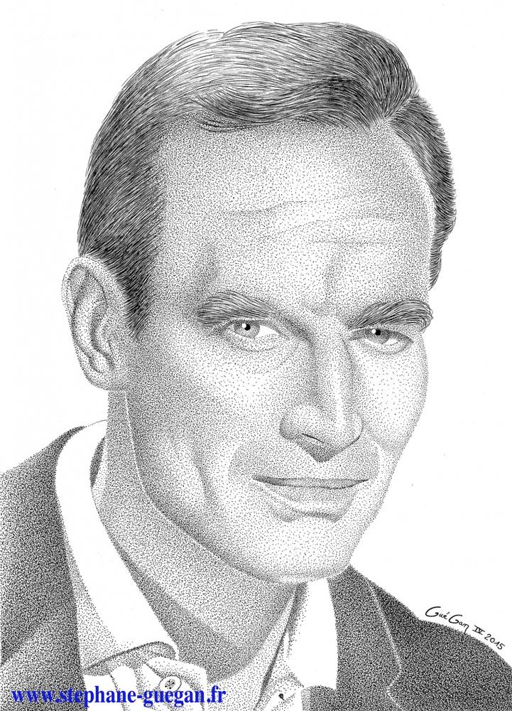Charlton Heston by GUEGAN